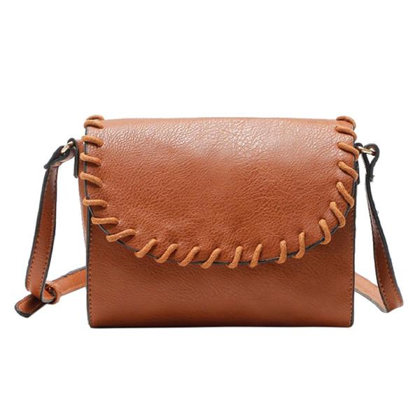 CONEED 2018 Frauen Leder Schnur Seil Retro Diagonal Umhängetasche Damen Handtasche Satchel Cross Body Messenger Tasche Se27