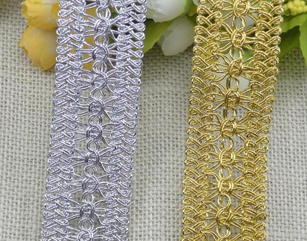 top popular Honeysuckle line flower Ribbon 3.5cm Width Lace Trim DIY Ribbon Art Crafts 2021