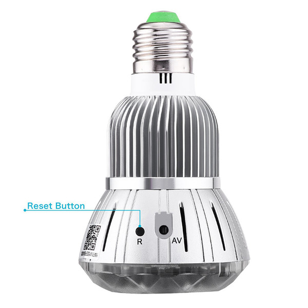 Interfaz de energía E27 Home Monitoring bulbo cámara IP inalámbrica Wi-Fi Luz Mini Vigilancia CCTV cámara de 2MP Seguridad para el Hogar