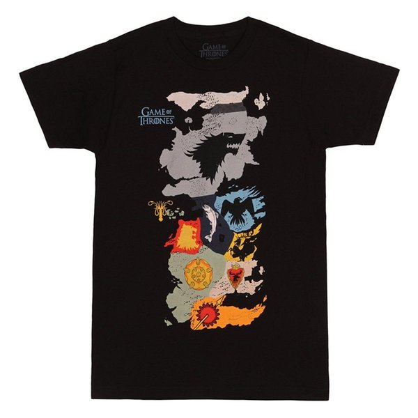 Authentisches SPIEL DER THRONEN HBO Karte der Häuser T-Shirt S-2XL NEU