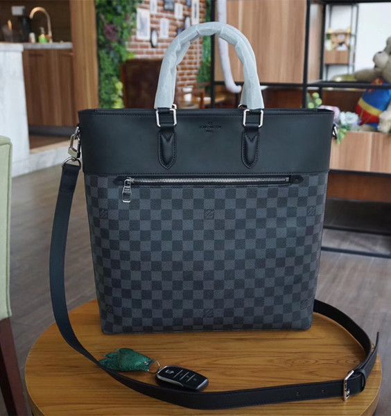 2018 brand fashion luxury designer handbags shoulder bags MEN Sacs à main de luxe bag mens Shoulder for man genuine leather handbags N41588