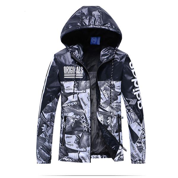 Мужская ветровка дизайнерские мужские синие куртки новинка пальто молния толсто