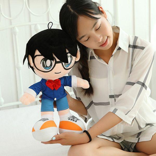 Detective Conan peluş oyuncaklar Anime Vaka Kapalı Conan Edogawa rakam peluş bebek 30/40/50 cm 1 adet hediye için ücretsiz kargo