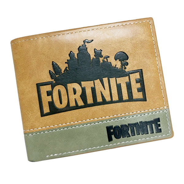 fortnite cool design card holder wallet short leather purse men women folding style money bag hot sale pocket bag for gift - Gift Card Holders Wholesale