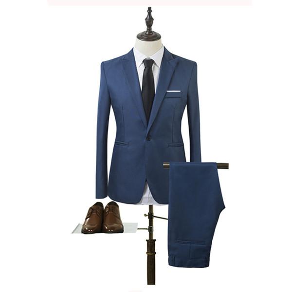 2018 Latest Coat Pant Designs Plus Size 3XL Mens Suits Wedding Groom Good Quality Casual Skinny Men Suits 2 Peiece (Jacket+Pant)