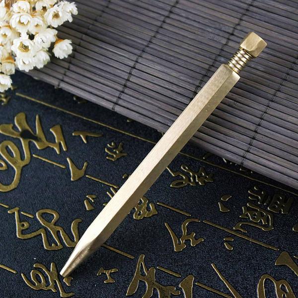 Creative Business Meeting Signing Pen High-grade Brass Metal Ballpoint Pen Creative Pressed Rotationally Fixed
