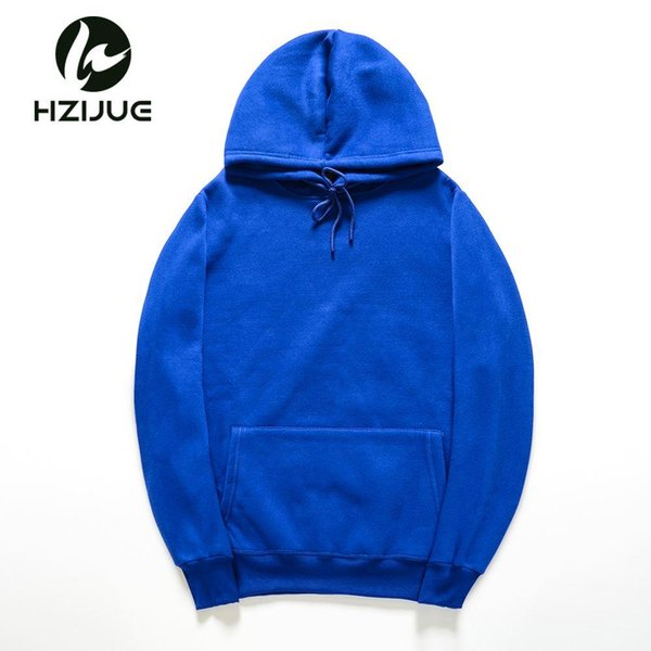 HZIJUE 2018 New brand Hoodie Streetwear Hip Hop orange red blue yellow Hooded Hoody Mens Hoodies and Sweatshirts Size M-XXL