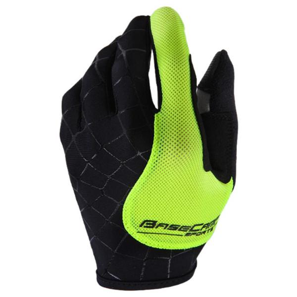 Spider Fluorescent Green Running Gloves Basecamp Nylon breathable Full Finger Cycling Gloves for Bike( M L XL)
