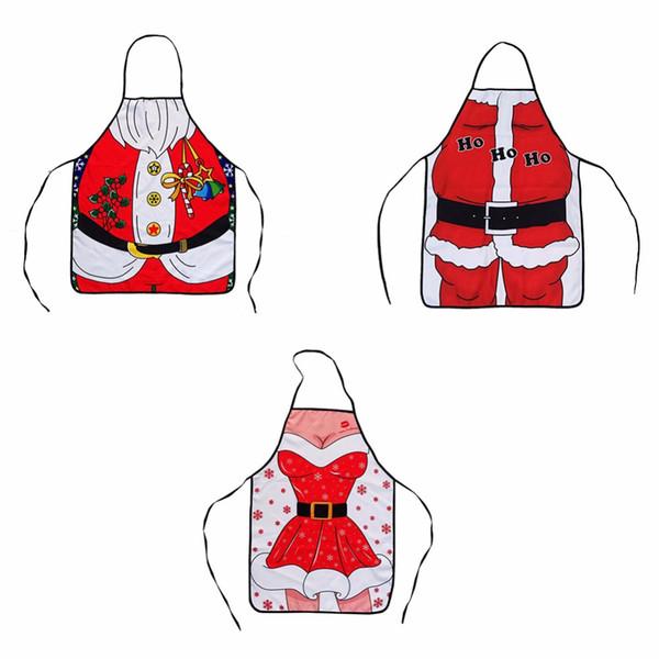 1 PC Grembiule da cucina Babbo Natale Whimsy Novità regalo per Natale festa di Capodanno