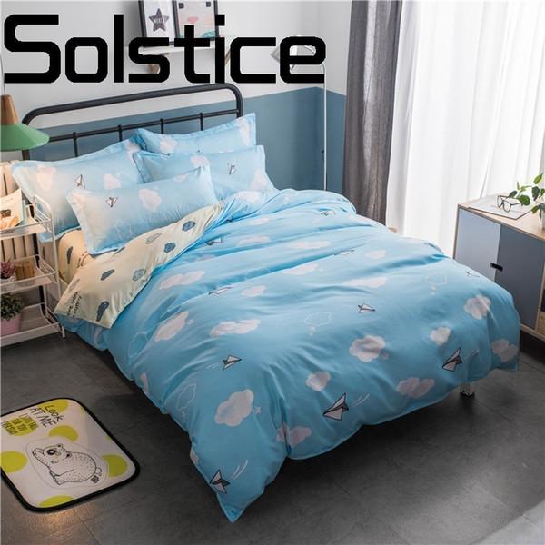 Solstice Home Textile 2018 Mode Druck Hautfreundliche Atmungsaktive Reaktive Bettwäsche Blatt Bettwäsche Kissenbezug Bettbezug 3/4 stücke