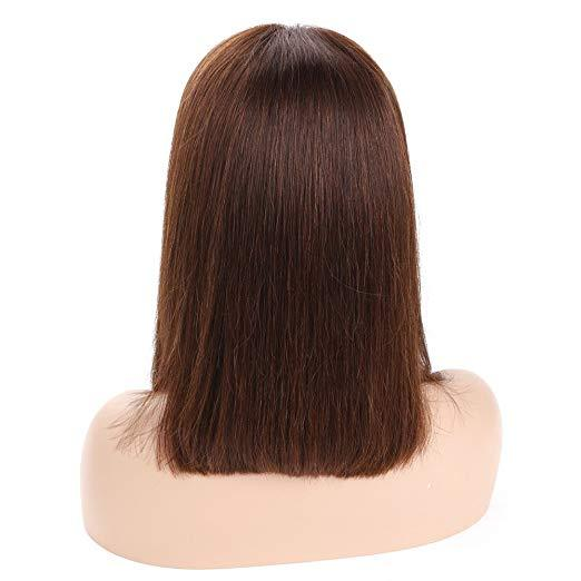 13x4 Bob Lace Front Wigs Pre Plucked With Baby Hair Human Hair Wigs For Black Women 150% Density #4 Brazilian Virgin Hair