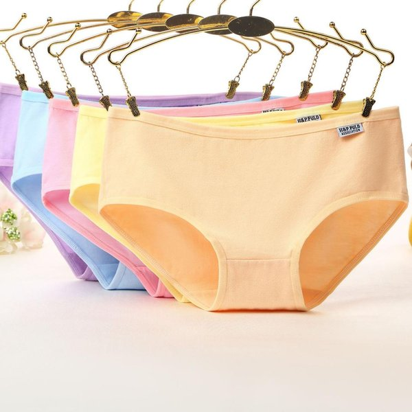 panties low waist cotton candy color ladies underwear women's underwear panty briefs solid color cheap cloth wholesale K001