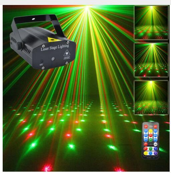 Rojo luz verde proyector para de jardin y laser espectaculo