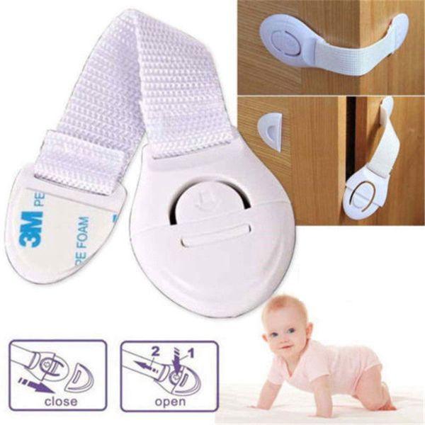 top popular Child Safety Lock Infant Baby Kids Refrigerator Toilet Drawer Door Cabinet Cupboard Toddler Locks 500pcs AAA685 2021