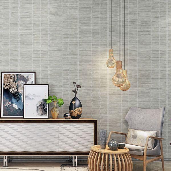 Großhandel Moderne Chinesische Art Vliestapete 3D Geprägte Nachahmung Stroh  Tapeten Wohnzimmer Schlafzimmer Hintergrund Wandverkleidung 3 D Von Crape,  ...