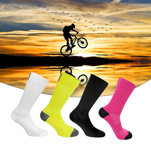 Men Women Cycling Socks Outdoor Quick Dry Sports Socks Ride Compression Fits Size 38-45
