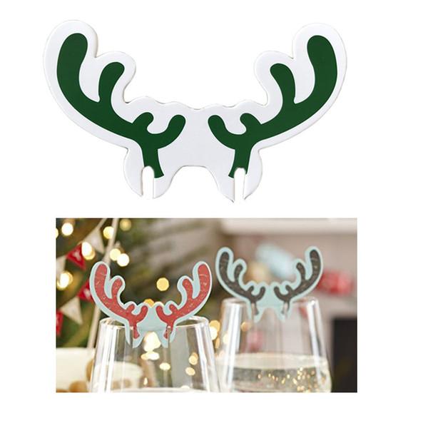 Merry Christmas Noel Baba Şapka Şarap Cam Noel Tatil Dekorasyon Caps Xmas Yeni Yıl Masa Yer Kartları Noel Santa Şapka