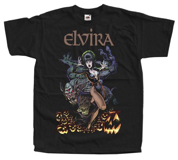 Elvira: Mistress of the Dark V31, Filmplakat, T-Shirts (SCHWARZ) ALLE GRÖSSEN S-5XL 100% Baumwolle Cool Cute T-Shirts Man 2018 Hohe Qualität