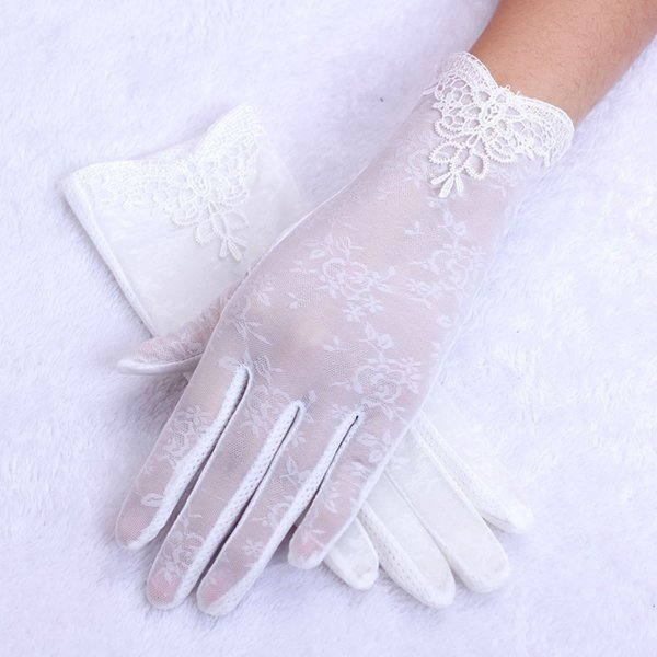 outlet boutique united states super quality 2019 Women's Summer Gloves & Mittens UV Proof Driving Gloves Lace 2018  Party Fashion Accessories White Patchwork New From Melontwo, $39.85 | ...