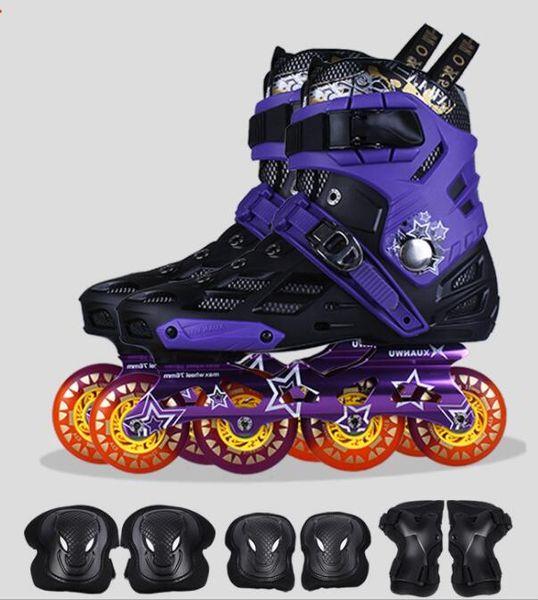 Yüksek kalite! 4 Tekerlekler Paten Roselle Inline Paten Profesyonel Slalom Yetişkin Paten Ayakkabı Sürgülü Ücretsiz Paten