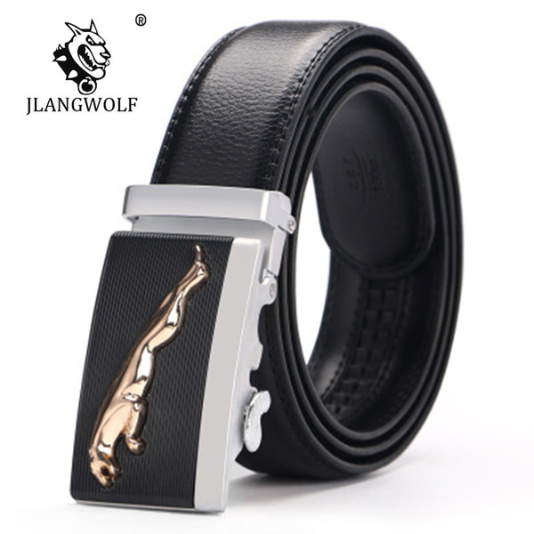 Men Automatic Buckle Belts PU Leather Practical Business Man Belts Classic Popular Male Brand Black Ceinture Homme D029