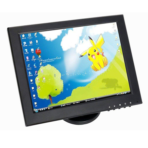 Factory selling 12 inch CCTV TFT LCD Monitor VGA/AV/HDMI/BNC/USB Input Display Security Camera Car Rearview Computer Screen