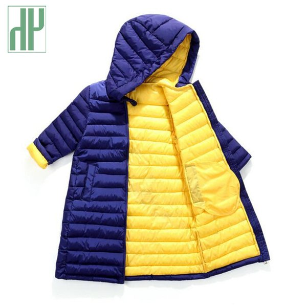 75db349c5c9 Children s winter jackets for boys long jacket duck down Padded girls jacket  kids parka Warm hooded