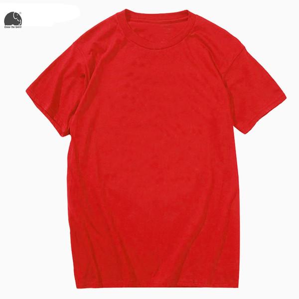 EnjoytheSpirit T Shirt Men New Brand Clothing Summer Solid Color T-shirt Male Casual Plain Tshirt Short Sleeve Tee Shirt Tops