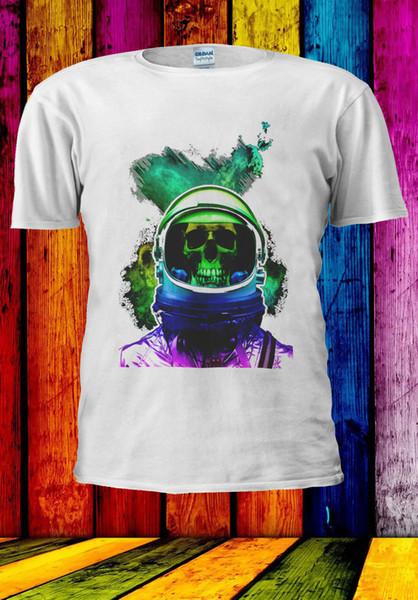 Astronaut Art Skull Colorful T-shirt Vest Tank Top Men Women Unisex 548 funny 100% Cotton t shirt