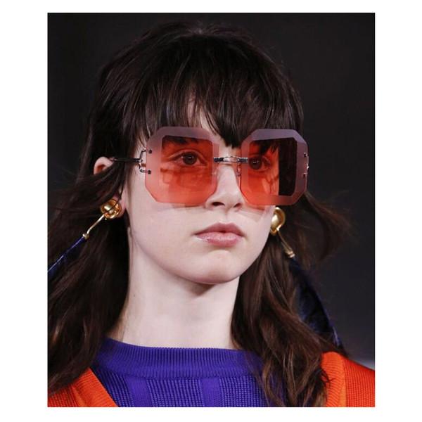 Designer sunglasses 2018 new fashion luxury brand designer sunglasses for men women FD298 Square trimming lens 53mm Candy colored style.