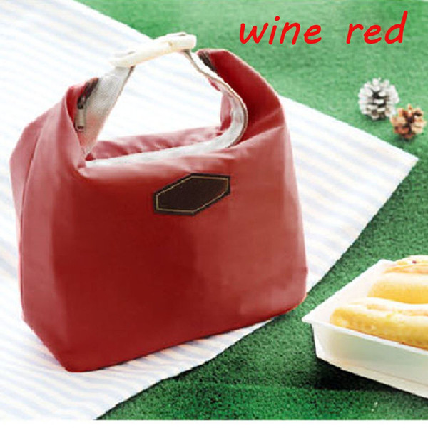 Hot Sale 1PC Fashion Waterproof Nylon Lunch Bag Thermal Cooler Insulated Lunch Box Portable Tote Storage Picnic Bag
