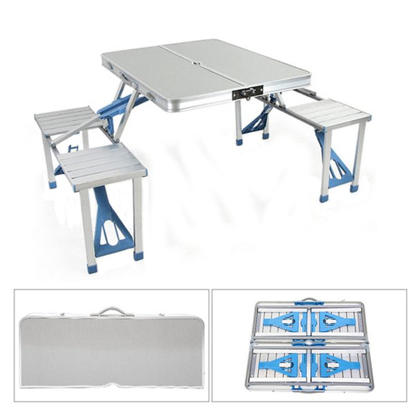 outdoor furniture new style Portable Aluminum Alloy Outdoor Portable Camping Picnic BBQ Folding Table Chair Stool Set