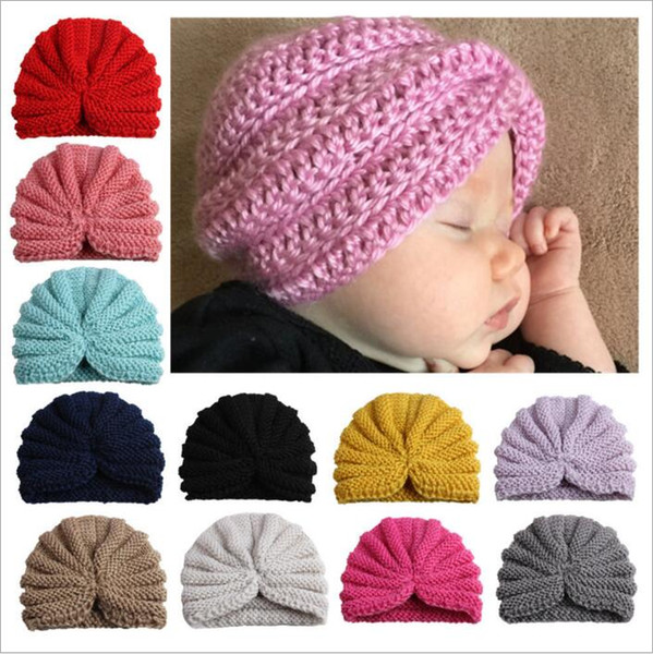 Infant India Hats Toddler Winter Beanie Kids Knitted Hats Newborn Turban Hats Caps Baby Headwear Headress Caps Headbands Accessories B3777