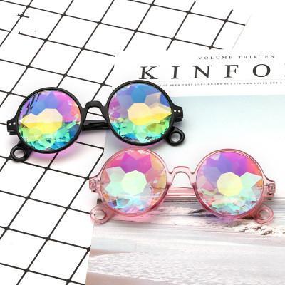 NEU Kaleidoskop Brille Festival Brille Reise Sonnenbrille Kaleidoskop Brille Retro Rave Spiel Party für Männer Frauen