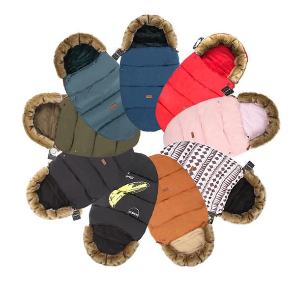 best selling Baby stroller Sleeping Bag Baby bed footmuff with fake fur collar waterproof warmer stroller sleepsack quilt