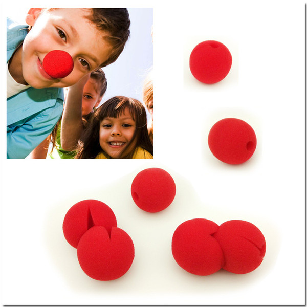 2018 Party Sponge Ball Red Clown Magic Nose For Halloween Party Masquerade Christamas Decors Accessory Decors