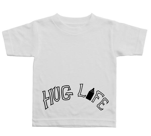 T Shirt Grafik Ekip Boyun Sarılmak Hayat Kısa Kollu Tasarım Erkekler Için T Shirt