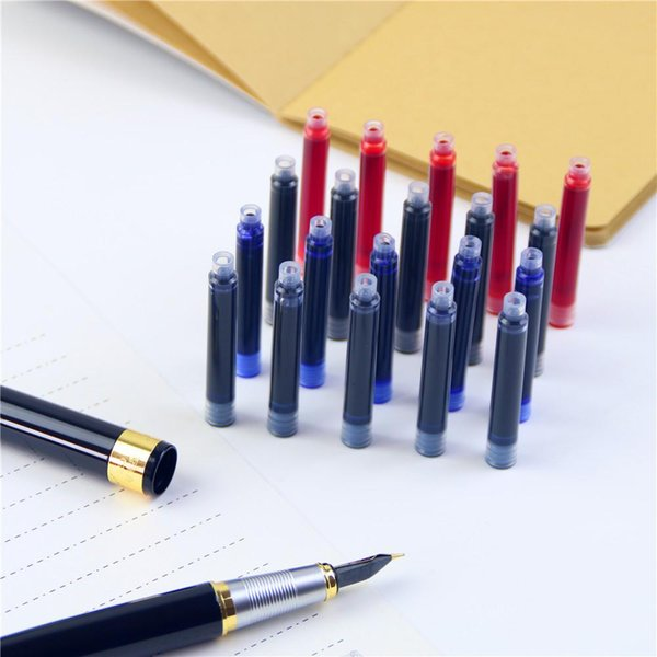 top popular 5 Pcs   Lot Fountain Pen Ink High Quality Office & School Supplies Cartridge Black 100% New Free Shipping 2020