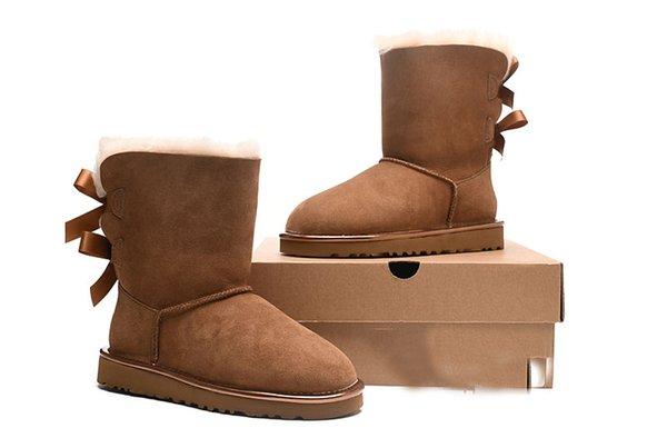 53114d4053e Miliary 2018 19 Top Winter Australia Classic Snow Fashion⠀ugg Tall Real  Leather Baileyi Bowknot Women'S Bailey Two Bow Knee Womens Shoe Sporto  Boots ...