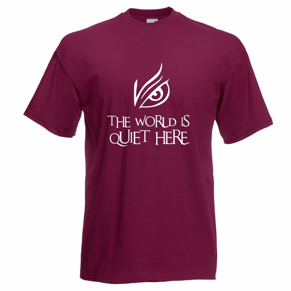 The World Is Quiet Here T-Shirt A Seies Of Unfortunate Events Parody Funny free shipping Unisex Casual tee gift