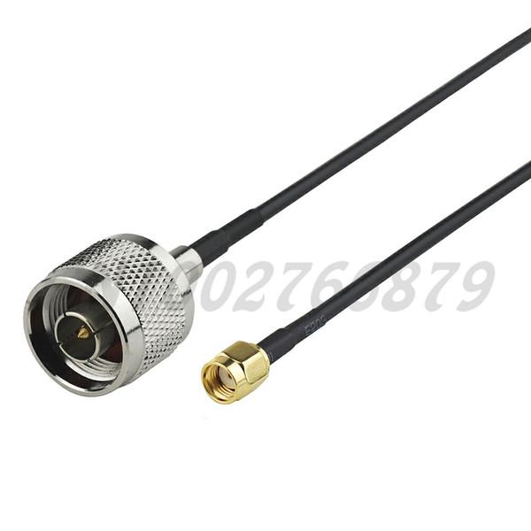 1.6ft 50cm RF N Plug macho a RP-SMA Plug macho recto RG174 Pigtail Cable Antenna Feeder assembly