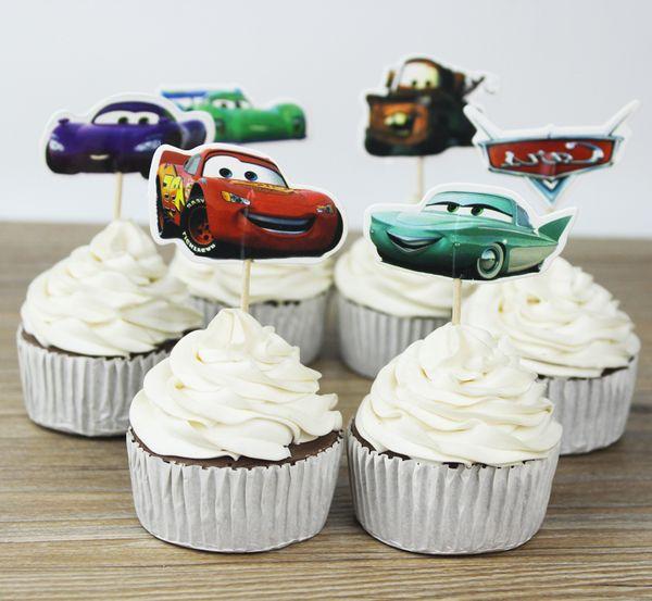 Автомобили ботворезы выбирает кекс топпер детские принадлежности для душа ребенка дети день рождения торт выпечки украшения партии