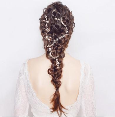 Elegant Leaf Party / Wedding Band - Accessori per capelli da sposa per capelli