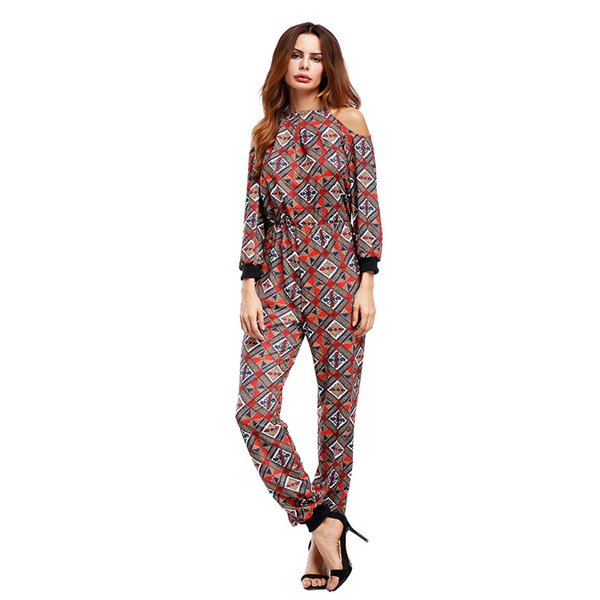 2019 Women Rompers Jumpsuits 2018 Fashion Jumper Suit Long Pants Hollow Out  Sexy Cold Shoulder Jumpsuits WS6442E From Afashions, $27.01