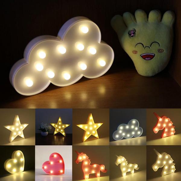 Yeni 3D LED Flamingo Şekli Chic Lamba Gece Işıkları Natal Hediye Çocuklar Için Noel Dekorasyon Ev Düğün Dekor Için Bebek Duş Parti gece