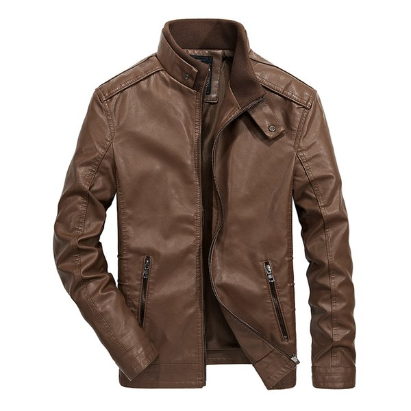 2018 motorcycle Suits Men Autumn Spring Bomber PU leather Casual Men Pilot Solid Slim Fashion Men coat