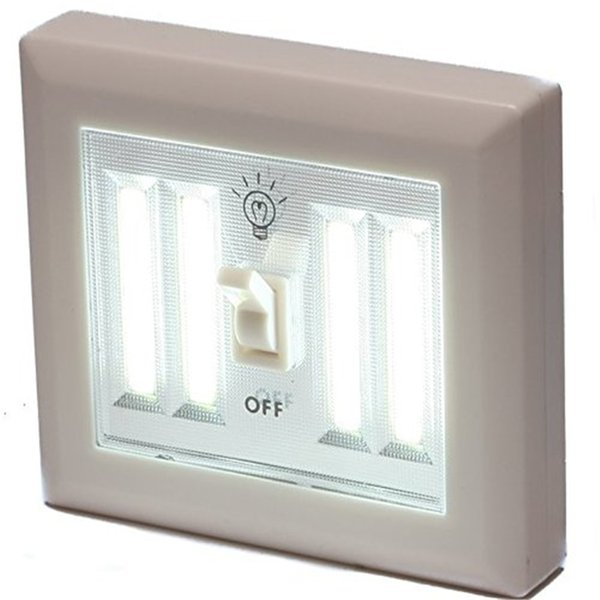 Supli 4COB Led Wireless Night Light Switch Wall Lamp Battery Operated Kitchen Cabinet Garage Closet Camp Emergency Lamp