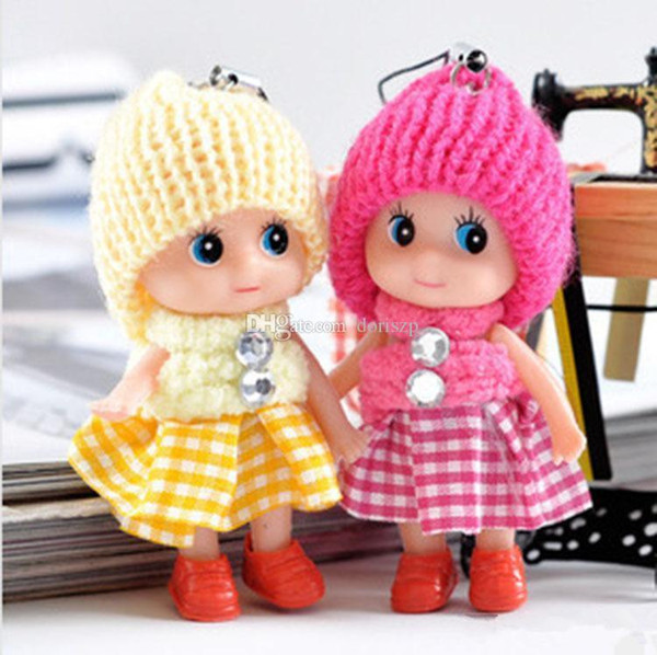 top popular 2017 new Kids Toys Dolls Soft Interactive Baby Dolls Toy Mini Doll For Girls free shipping 2020