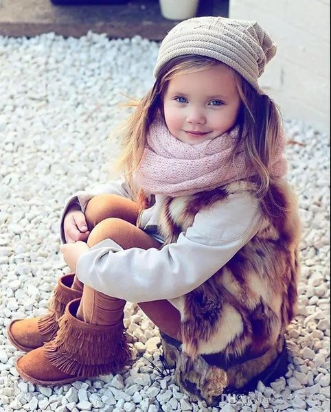 Kids Scarf Autumn Winter Knitted Warm Pineapple Scarves Neck Warmer Baby Boys Girls Fashion Neckerchief Neck Warmer 11 Colors
