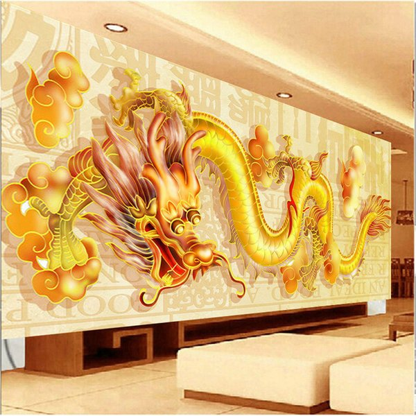 DIY Diamond Embroidery,Round Diamond Oriental Golden Dragon Full rhinestone 5D Diamond painting cross stitch,needlework